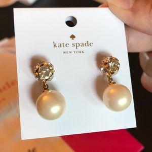Kate Spade Crystal Pearl Drop Earrings